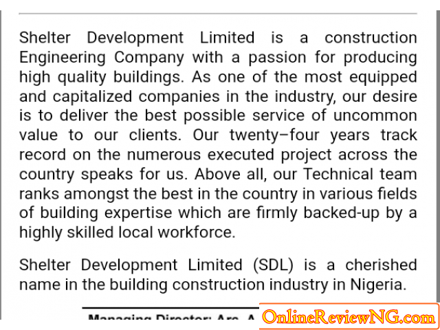 Shelter Development Limited (SDL)